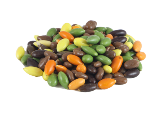 Chocolate glazed sunflower seeds